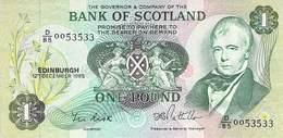 One Pound Scottland 1985 AU/EF (II) - [ 3] Scotland