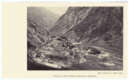 Vers 1935 - Iconographie - La Léchère (Savoie) - L'usine De Notre-Dame-de-Briançon - FRANCO DE PORT - Vieux Papiers