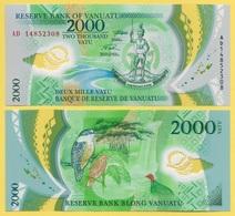 Vanuatu 2000 Vatu P-14 2014 UNC Polymer Banknote - Vanuatu
