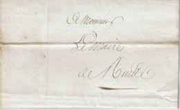 Précurseur De NEUFCHATEAU Du 21 Février 1823 à RUETTE (concerne Achat D'un Cloitre) - 1815-1830 (Dutch Period)