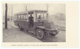 Vers 1935 - Iconographie - Dugny (Seine-Saint-Denis) - L'omnibus De La Ligne Le Bourget Dugny Drancy - FRANCO DE PORT - Vieux Papiers