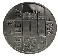 Belgie, 250 Frank QP, 1994, Uit Benelux Set, Zilver .925, In Capsule - 1993-...: Albert II