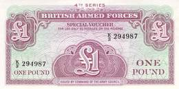 One Pound British Armed Forces UNC - Forze Armate Britanniche & Docuementi Speciali