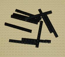 Lego Lot 10 X Plate Noir 1x10 Ref 4477 - Lego Technic