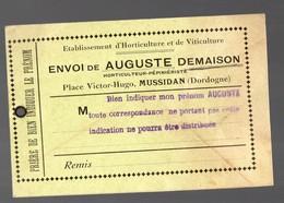 Mussidan  (24 Dordogne)  étiquette AUGUSTE DEMAISON  Horticulture Viticulture (PPP18680) - Advertising