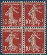 France Semeuse Faux Lorulot N°138** Bloc De 4 Dentelé Superbe ! - 1906-38 Sower - Cameo