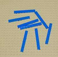 Lego Lot 8 X Plate Bleu 1x8 Ref 3460 - Lego Technic