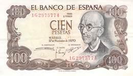 100 Pesetas Spanien 1970 AU/EF (II) - [ 3] 1936-1975: Franco