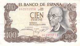 100 Pesetas Spanien 1970 AU/EF (II) - [ 3] 1936-1975 : Regime Di Franco
