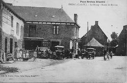 22 EREAC LE BOURG ROUTE DE BROONS GARAGE DESBOIS  PATRONS EMPLOYES  VOITURES MOTOS ANCIENNES  EDT TABAC TRES ANIMEE  *** - Francia