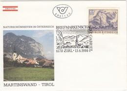 ÖSTERREICH 1986 - Naturschönheiten / Martinswand/Tirol - Sonderstempel FDC - Sonstige