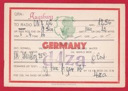 CARTE RADIO AMATEUR – D4ZA – Augsburg, Germany 1960 - Radio Amateur