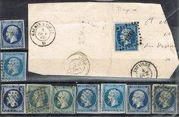 10 Fois Le N° 14 Dont 1 Fragment - 1853-1860 Napoleon III