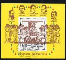 Guinea- Bissau 1983  MiNr. 681 (Block 250)  O/ Used;  Schachmeister - Guinea-Bissau