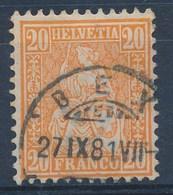 """HELVETIA - Mi Nr 24 - Cachet """"BEX"""" - (ref. 1381) - Oblitérés"""