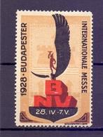 CINDERELLA  ERINOFILO BUDAPEST Internationale Messe BNV1928    (GIUGN1900B132) - Erinnofilia