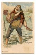 Gruss.jolie Baigneuse 1900.loup De Mer.rehauts De Paillettes Argentées.femme érotique.                             .E.44 - Femmes