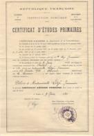 Diplôme : Certificat D'Etude Primaire 1933 - Diploma & School Reports