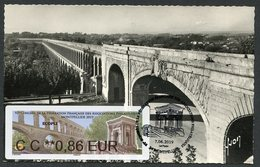 FRANCE (2019). Carte Maximum Card - ATM LISA 92 Congres FFAP - Montpellier - Château D'eau Peyrou, Aqueduc Saint-Clément - Cartes-Maximum