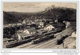 SAINT-FLOUR - 1877 - La Gare (train) - Saint Flour
