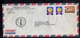 LIBYA LIBIA REPUBLIC GADDAFI ISSUE GHEDDAFI 1972? FAIR  EVACUATION OF US AIR MAIL PAR AVION LETTER COVER LETTERA LETTRE - Libyen