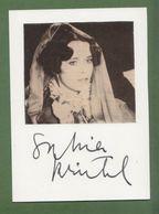 SYLVIA KRISTEL  AUTOGRAPHE / AUTOGRAMM  In Person Signed Card+Photo  10/15  Cm - Autographes