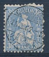 """HELVETIA - Mi Nr 33 - Cachet """"CHAUX-DE-FONDS"""" - Cote 15,00 € - (ref. 1399) - 1862-1881 Helvetia Assise (dentelés)"""