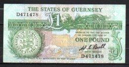 624-Guernesey Billet De 1 Pound 1980-89 D471 - Guernsey