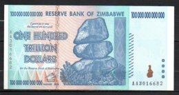 624-Zimbabwe Billet De 100 Trillions De Dollars 2008 AA301 - Zimbabwe