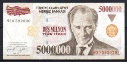 624-Turquie Billet De 5 000 000 De Lira 1997 M30 - Turquie