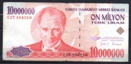 624-Turquie Billet De 10 000 000 De Lira 1999 C27 - Turquie