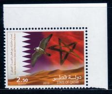 Qatar 2012 Joint Issue Qatar Morocco Falcon Flag And Dunes / Maroc / Faucon / Oiseau / Bird  N° 1405  MNH  Neuf - Qatar
