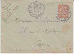 FRANCE ENTIERS POSTAUX AUBIN 4 DECEMBRE 1911 MOUCHON - Postal Stamped Stationery
