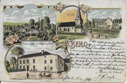 BEHO ..-- Multi-Vues . 1904 De DEIFFELT Vers FONTENOILLE ( Mr Jules LAMBOTTE , DOUANIER ) . Voir Verso . - Gouvy