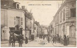 JARZE   *** Rue Principale***  Rare Cpa Très Animée Peu Courante - Other Municipalities