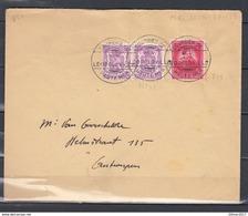 422 En 749 Op Brief Met Stempel COURRIER DE HAUTE MER / M/S Leopoldville Naar Antwerpen - 1935-1949 Petit Sceau De L'Etat