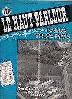 Le Haut-Parleur N°994 Radio Télévision L'émetteur T.V. De Rouen Les Essarts - Régulateurs électroniques De Tension 1957 - Do-it-yourself / Technical