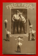 CIRCUS Acrobats FRED AND FREDY VINTAGE PHOTO POSTCARD USED 902 - Illustratori & Fotografie