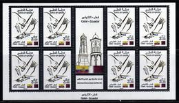 Qatar 2014 Joint Issue Qatar Ecuador / Condor Oryx / Equateur / Animaux / Animals   Bloc N° 1424 KB Rare   MNH  Neuf - Qatar