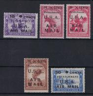 Belgisch Congo Detatchment U.S.A. Air Mail MH * POSTFRIS MET SCHARNIER SUPERBE - Congo Belge