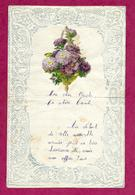 LETTRE De 1929 GAUFREE Avec CHROMO DECOUPIS BOUQUET De FLEURS - Old Paper