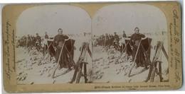 ZOUAVES A TSIEN-TSIN (CHINE) PHOTO STEREOSCOPIQUE ANCIENNE. BON ETAT - Regiments