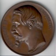 Napoleon III Empereur Medaille 1859 Asile Imperial Du Vesinet Inaugurè  29 September 1859  F. Chabaud Fdc Unc Astuccio - Monarchia / Nobiltà