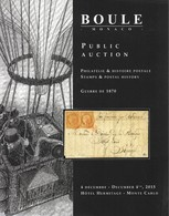Catalogue Boule  Guerre De 1870 - Catalogi Van Veilinghuizen