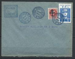 France Libération Paris Envellope CAE 26 VIII 1944 Cachet Paris Libéré - Liberation