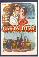 Programa Cine. Casta Diva. Antonella Lualdi. Maurice Ronet. 1954. Francia. Italia. Sello Cine Alcazar. Tanger Marruecos. - Affiches & Posters