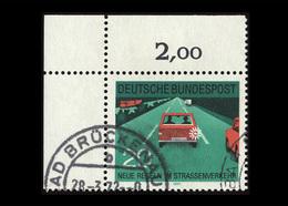 BRD 1971, Michel-Nr. 672, Neue Regeln Im Straßenverkehr, 20 Pf., Eckrand Oben Links, Gestempelt - BRD
