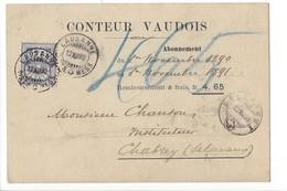 22076 - Lausanne Conteur Vaudois Pour Chabrey 1890 - VD Waadt