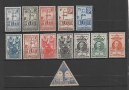 Cote Française Des Somalis 13 Nine Stamps 1938-43 (7 MNH, 3 MH*, 3 Without Gum) - Nuevos