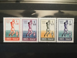 FRANCOBOLLI STAMPS PARAGUAY 1960 MNH** NUOVI SERIE COMPLETA OLYMPIC GAMES GIOCHI OLIMPICI ROMA - Paraguay